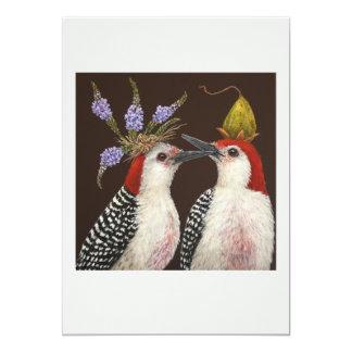 Cartão liso do primeiro beijo convite 12.7 x 17.78cm