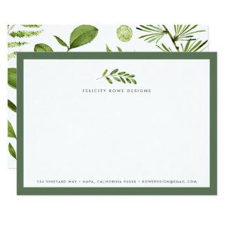 Cartão liso dos artigos de papelaria selvagens do