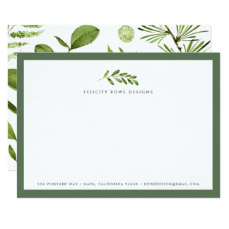Cartão liso dos artigos de papelaria selvagens do convite 12.7 x 17.78cm