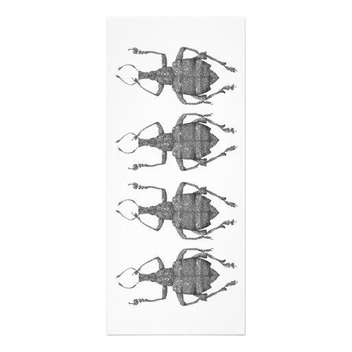 cartão liso dos besouros da dança convites