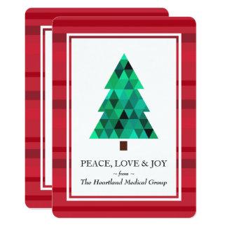 Cartão liso dos feriados geométricos modernos da convite 12.7 x 17.78cm