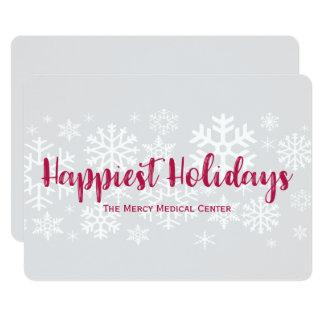 Cartão liso dos feriados os mais felizes da convite 12.7 x 17.78cm