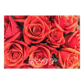 Cartão liso dos rosas RSVP