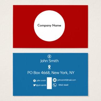 Cartão liso moderno da visita do design