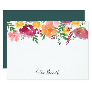 Cartão liso personalizado dos artigos de papelaria