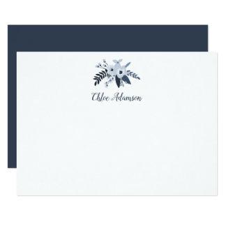 Cartão liso personalizado floral dos artigos de