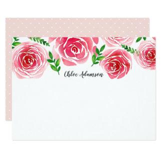 Cartão liso personalizado rosa dos artigos de