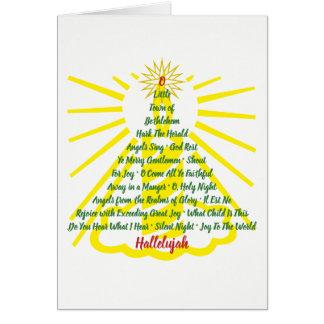Cartão Lista da canção da luz de vela - cumprimento para