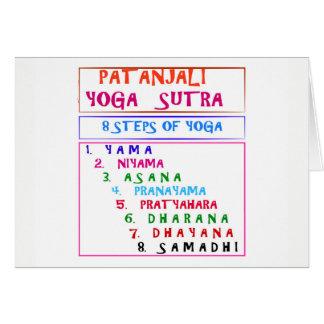 Cartão Lista da compilação de Sutra da ioga de PATANJALI