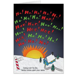 Cartão Lista do Natal