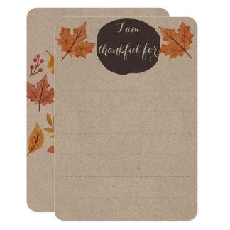 Cartão Lista grata da atividade | da mesa da família da