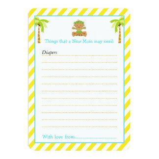 Cartão Lista tropical do conselho do menino de Hula para