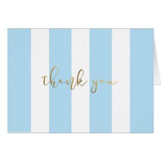 Cartão Listra azul com roteiro