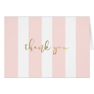 Cartão Listra cor-de-rosa com roteiro