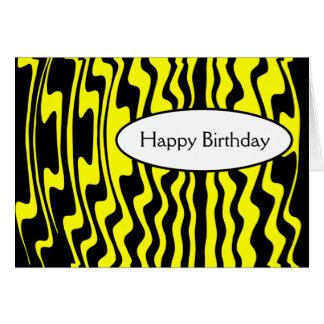 Cartão Listra ondulada - preto e amarelo