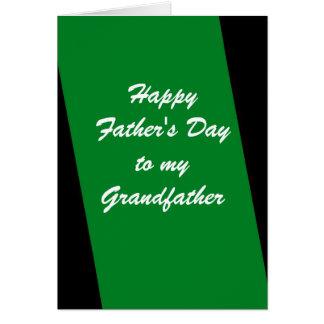 Cartão Listra verde de primeira geração do dia dos pais