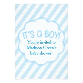 Cartão listrado do convite do chá de fraldas do