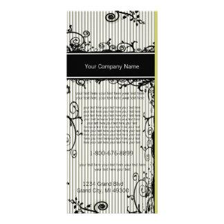 Cartão listrado rodado preto e branco da 10.16 x 22.86cm panfleto
