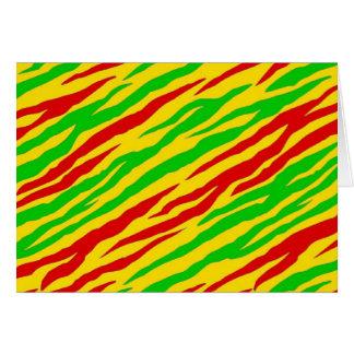 Cartão Listras da zebra de Rasta