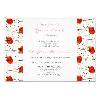 Cartão Listras delicadas brancas dos confetes florais do