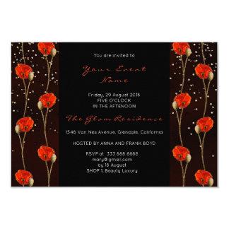 Cartão Listras delicadas do preto floral dos confetes do