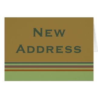 Cartão Listras novas do endereço