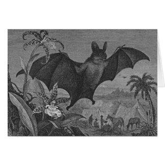 Cartão Litografia do bastão de vampiro