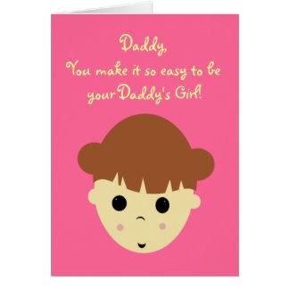 Cartão littlegirlbrown, pai, você faz tão fácil a b…