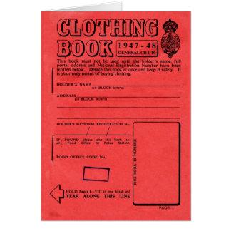 Cartão Livro de ração da roupa