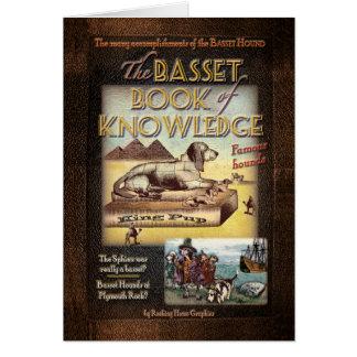 Cartão Livro do Basset de conhecimento