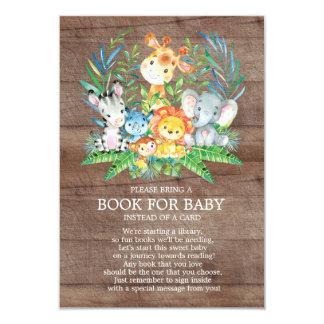 Cartão Livro neutro do chá de fraldas da selva do safari