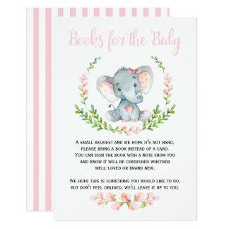 Cartão Livros bonitos do elefante da menina para o pedido