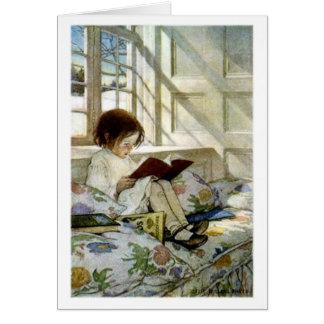 """Cartão """"Livros no inverno """""""