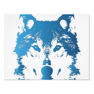 Cartão Lobo do azul de gelo da ilustração