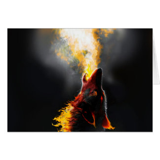 Cartão Lobo do fogo