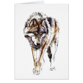 Cartão Lobo europeu