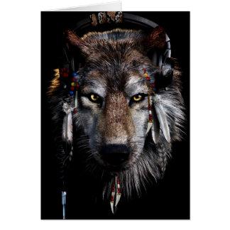 Cartão Lobo indiano - lobo cinzento