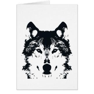 Cartão Lobo preto da ilustração
