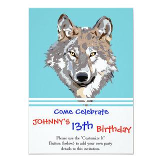 Cartão Lobo principal - ilustração do lobo - lobo