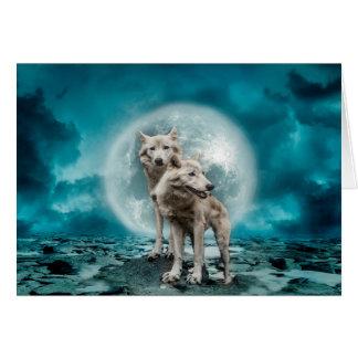 Cartão Lobos da lua