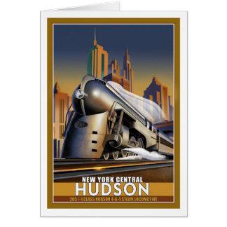 Cartão Locomotiva aerodinamizada Hudson de New York