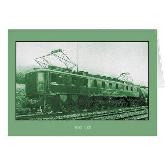 Cartão Locomotiva da classe FF1 da estrada de ferro de