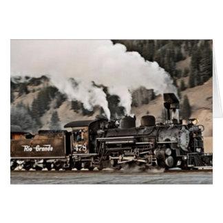 Cartão Locomotiva de vapor