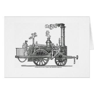 Cartão Locomotiva de vapor adiantada