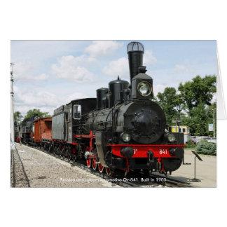 Cartão Locomotiva, locomotiva de vapor retro Ov-8 do