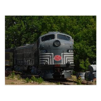 Cartão locomotivo central de New York