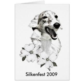 Cartão Logotipo 2009 de Silkenfest R. Lynn Shell