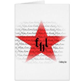 Cartão Logotipo de FHL (fé, esperança & amor) All Star
