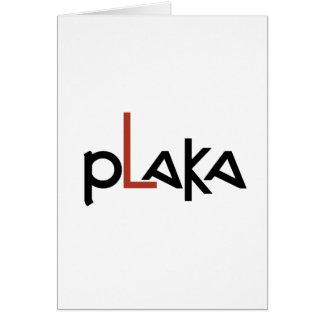 Cartão Logotipo de Plaka