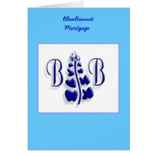 Cartão Logotipo do BlueBonnet